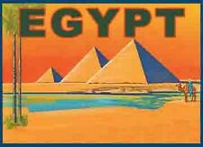 EGYPT     Vintage-Looking  Travel Decal/Sticker/Luggage Label