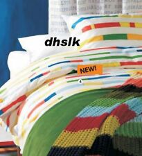 IKEA Unni Bjork KING DUVET COVER Set RETRO Modern BOLD UNNI BJÖRK Color Band DNA