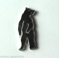 BLACK BEAR ANIMAL WILDLIFE STANDING LAPEL PIN BADGE 3/4 INCH