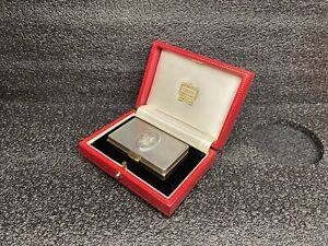 Original Cartier silver snuffbox !!!very rare!!! Prince of Wales Ich Dien 2005