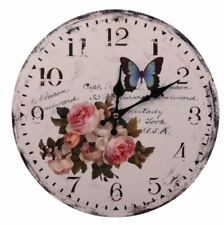 Decorative Fine Wooden Wall Clock (Rose)