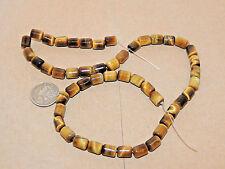 Tiger's Eye Tube 6x8x6mm Gemstone Beads (10215)