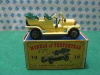 Vintage  -  SPYKER  TOURER  1904  GL    -   Matchbox  Y-16     Mint  box