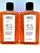 Bath Body Works Co Bigelow Apricot Vanilla Body Cleanser 10 oz/295 mL New x 2