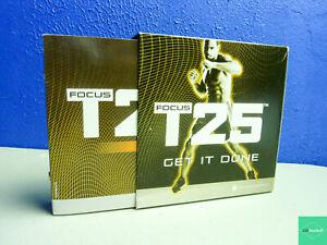 Beachbody Focus T25 Get It Done DVD Set Alpha & Beta Workout 10 Discs