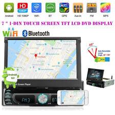 "Retractable 12V 7"" Touch Screen Car MP5 Player DVD GPS Navigation BT WiFi 1+16G"
