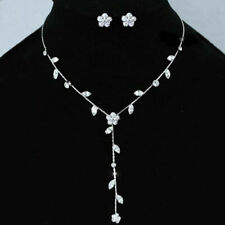 Bridal Wedding New /& Boxed Twisted Design Diamante Necklace /& Earrings Set