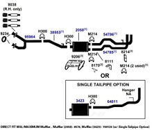 Exhaust Bracket fits 1988-1995 GMC C2500,K2500,K3500 C3500 C1500,C2500,C3500,K15