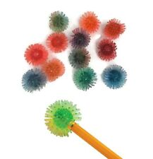 12 Porcupine Ball Pencil Toppers Fidget Fiddle ADHD Autism Stress Relief