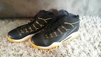NIKE ZOOM size 9 men's athletic sneakers high tops black white yellow SHOES top