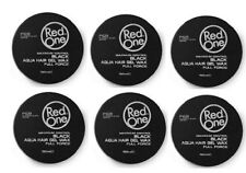 Red One Maximum Control Black Aqua Hair Gel Wax X 6  - Platinum Black Series