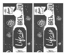 Life is Brewtiful Beer Cornhole Board Vinyl Decal Wrap Sticker Skin Funny Joke