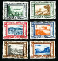 Italy Stamps # C42-7 Rare Used Set of 6 Scott Value $2,000.00