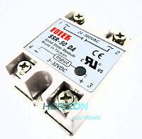 24V-380V 50A 250V SSR-50 DA Solid State Relay Module 3-32V DC TO AC TOP