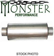 """M12774 Dodge Ford Gm Stainless Muffler 5"""" Id Inlet Outlet 8"""" Body 29"""" Long"""