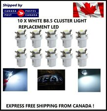 10x T5 B8.5D 5050 1SMD White LED Bulbs Dashboard Cluster Gauge Side Light DC12V