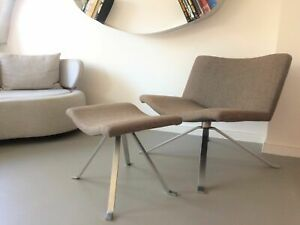 Peter Maly by Tonon Swivel Wave Lounge Chair Brown Grey Retro Designer