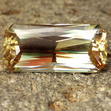 GREEN PINK OREGON SUNSTONE 15.97Ct TOP COLLECTOR GRADE-PERFECT CUT BY IAN!!