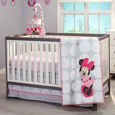 Disney Baby Minnie Mouse Polka Dot 4 piece baby girl crib bedding Set