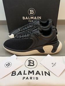 Balmain Paris B-Runner Leather Trimmed Mesh Sneakers Black 45 EU New Box Italy