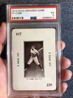 POP 4 !! RARE Ty Cobb PSA 5 EX 1914 Polo Grounds Game DEAD CENTERED