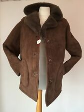 NWT 'ALBECK' VINTAGE BROWN INSIDE & OUT SHEARLING/SHEEPSKIN JACKET  CHEST 42""