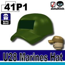 Tank Green Marine Hat Cap for LEGO army military brick minifigures