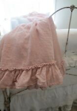Bella Notte Whisper Linen Twin DayBed Custom Made Skirt in Perfect Peach