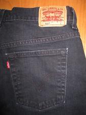 LEVIS Size 10 L x 33 Nouveau 515 Boot Cut Stretch Dark Blue Denim Jeans Womens