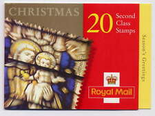 GB 2000 20 x 2nd CLASS STAINED GLASS CHRISTMAS BOOKLET LX20