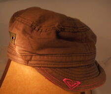 Roxy Khaki Fatique Green Colored Cotton Canvas Hipster Cap Hat Military Style
