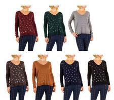 Winter Damen-Pullover & -Strickware mit V-Ausschnitt und feiner Strickart