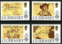 GUERNSEY 1992 EUROPA AMERICA SET OF 4 COMMEMORATIVE STAMPS MNH