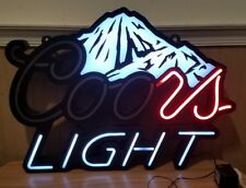 """2008 Coors Light Beer Lighted Bar Sign Led Neon Sign As Is ~ 29""""X 21"""""""
