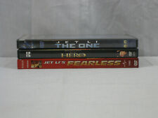 Jet Li 3 movie Dvd lot Hero, The One, Fearless. Vg