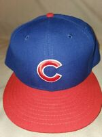 MLB CHICAGO CUBS NEW ERA 59 FIFTY CLASSIC BLUE FITTED MENS HAT SZ 7 5/8 20942494