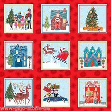 % SALE Makower Wonderland Label Patchworkstoff Stoff Weihnachtsstoff Weihnachten