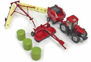 Case/IH Hay Harvest set with Puma 210 Tractor, Baler, MoCo & Rake - 1/64 scale
