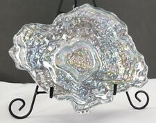 """Oyster Glass Side Bowl One Size Pearl Handpainted by Red Pomegranate 9"""" x 7"""" T3"""