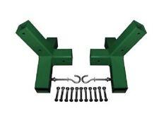 Supporto per amaca zincato verniciato a polvere verde per pali 7x7 cm