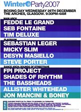 WINTER PARTY 2007 Rave Flyer Flyers A5 26/12/07 The Arches Glasgow Seb Fontaine