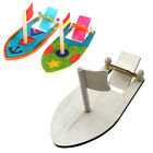 Wind Up Rubber Band Power Paddle Boat Wooden Retro Water/bath Tub/pool Toy QK