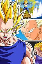 Dragon Ball Super/Z Vegeta Super Saiyan 12in x 18in Poster Free Shipping