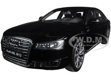 2014 AUDI A8 L W12 PHANTOM BLACK 1/18 DIECAST MODEL CAR BY KYOSHO 09232 BK