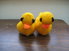 Carefully Hand Knitted Yellow Chick Slippers Age 3-6 Months