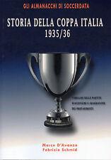 Storia Della Coppa Italia 1935/36 - Italian Cup Statistics - Football book