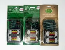 Battery Operated Holiday Light Sets 3 Packs - New