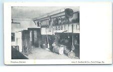 Fireplace Old Jail York Village Maine ME old Vintage Postcard B04
