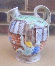 VINTAGE HJ legno BURSLEM Pottery Brocca dipinto a mano-scena Pub