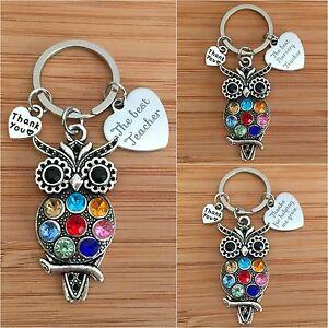 Gift for Teacher, Teaching assistant & nursery teacher - Wise Owl Keyring